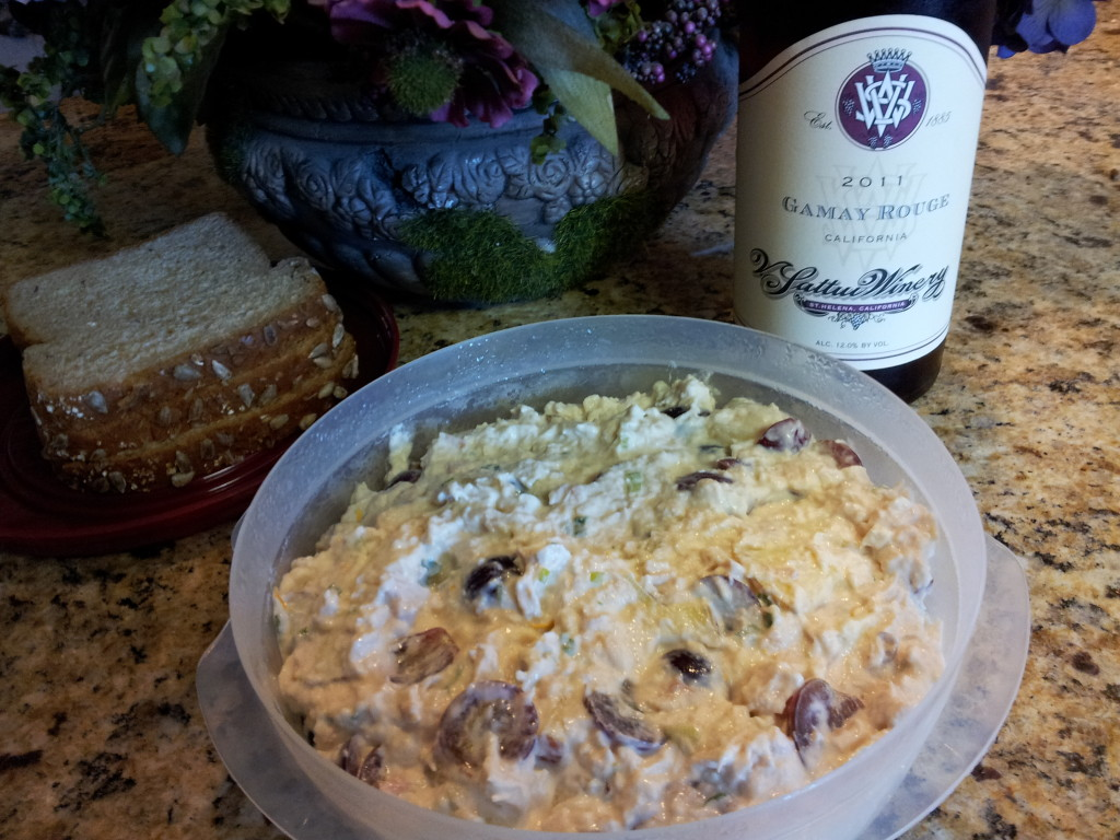 Rotisserie Chicken Salad with Grapes & V. Sattui Gamay Rouge